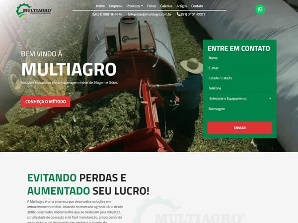 Criação de Site para Empresa de Máquinas de Agropecuária